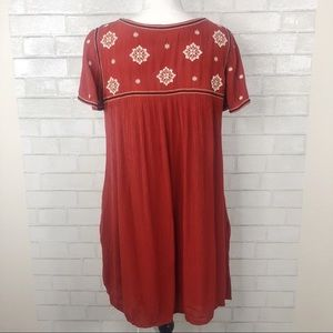 Abercrombie & Fitch Dresses - Abercrombie crinkled embroidered swing dress tunic